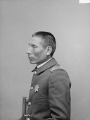 view Portrait (Profile) of Mi-Wa-Kan Yu-Ha-La, Called Sword, Captain of Native Police and Judge of Native Court, in Military Uniform 1891 digital asset number 1