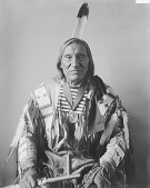 view Portrait (Front) of Chief Taopi Cikala (Little Wound) in Native Dress with Peace Medal and Holding Pipe MAR 1896 digital asset number 1