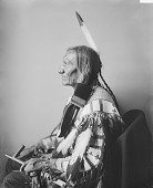 view Portrait (Profile) of Chief Taopi Cikala (Little Wound) in Native Dress with Peace Medal and Holding Pipe MAR 1896 digital asset number 1