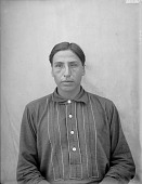 view Portrait (Front) of James Galligo, Interpreter and Manager of Native Outfit of 101 Ranch AUG 1907 digital asset number 1