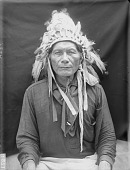 view Portrait (Front) of Sunkazi (Yellow Wolf) with Headdress AUG 1907 digital asset number 1