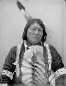 view Portrait (Front) of Ta-Sunka-Hinhota (Roan Horse) in Partial Native Dress with Breastplate AUG 1907 digital asset number 1