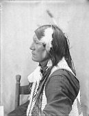 view Portrait (Profile) of Ta-Sunka-Hinhota (Roan Horse) in Partial Native Dress with Breastplate AUG 1907 digital asset number 1