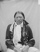 view Portrait (Front) of Cetan Wakinyan (Thunder Hawk) in Partial Native DressFAUG 1907 digital asset number 1