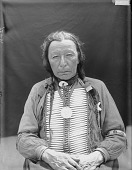 view Portrait (Front) of He-Wanbli (Eagle Horn) in Partial Native Dress with Peace Medal and Breastplate AUG 1907 digital asset number 1