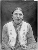 view Portrait (Front) of Kangi-Ho-Waste or Khan-Ghi-Ho-Asht (Good Voiced Crow) in Partial Native Dress 1907 digital asset number 1