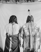 view Portrait (Back) of Little Wound (Oglala) and Kicking Bear, One in Native Dress, One in Partial Native Dress, Both Showing Scalp Locks 1896 digital asset number 1