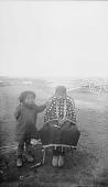 view Two Girls, One Wearing Elk-Tooth Dress 1893 digital asset number 1