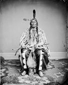 view Portrait (Front) of Ma-Wa-Tan-Na Han-Ska or Ma-Va-Ta-Na-Han-Ska (Long Mandan), Grandfather of Peter Tall Mandan, Holding Pipe and Bag 1867 digital asset number 1