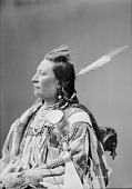 view [Portrait (Profile) of Yshidiapas or Aleck-Shea-Ahoos. Best known as Plenty Coups, head chief] 1880 digital asset number 1