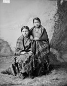 view Portrait of Mary Walker (Hidatsa) and Susie Nagle (Arikara), Both in Partial Native Dress 1884 digital asset number 1