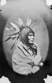 view Portrait of Santee Dakota man, Pa-hin Yu-za-ka Tanka, (Po-hin-uza-tan-ka) or Great Scalper before 1876 digital asset number 1