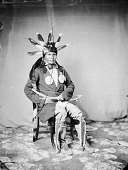 view Portrait (Front) of Au-Pe-To-Ke-Cha or At-Pe-Tu-To Ka-Tsha (Other Day) in Partial Native Dress with Headdress and Ornaments and Holding Bow and Arrow 1858 digital asset number 1