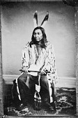 view Portrait (Front) of Wa-Hukeza Nonpa or Wa-Hu-Ke-Zi Nompa (Two War Spears) or Tow-A-Hu-Ka-Sa-No-Pa (Two Lances), Called Two Lance, in Native Dress and Holding Pipe-tomahawk and Bag 1867 digital asset number 1