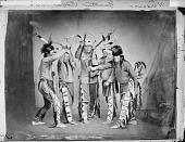 view Five Yankton men reenacting a War Dance 1867 digital asset number 1