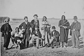view US Commissioners and Oglala Chiefs with pipes digital asset: US Commissioners and Oglala Chiefs with pipes