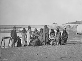 view Group of Crow chiefs with a man, possibly an US Commissioner or interpreter digital asset: Group of Crow chiefs with a man, possibly an US Commissioner or interpreter