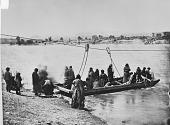 view Dakota Indians taking Ferry across North Platte River, near Fort Laramie 1868 digital asset number 1