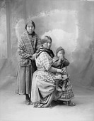 view Portrait (Front) of Two Women and Child from Montana in Partial Native Dress 1898 digital asset number 1