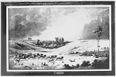 view [A buffalo pound near Fort Carlton] 1845 digital asset number 1