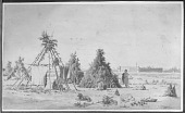 view An Assiniboin camp of pine branches APR 21 1848 digital asset number 1