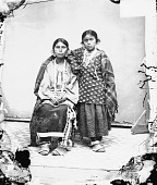view Portrait of Wahkunkschakaw and Daughter, Wife and Child of Former Chief Martin Van Buren, Both in Native Dress with Ornaments n.d digital asset number 1