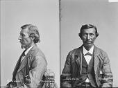 view Portrait of Winnebago man, Mankskaka (White Breast) before 1884 digital asset number 1