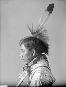 view Portrait of Winnebago man, Lakuhoohegar (The South Wind) Mar 1899 digital asset number 1