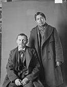 view Portrait of Iowa man, Mon-ne-han (Walking), called Robert Small and mixed blood Sauk and Fox man, Alex. Conolly Feb 1902 digital asset number 1