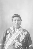 view [Portrait (Front) of unidentified Omaha man] 1898 digital asset number 1