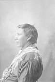 view [Portrait (Profile) of unidentified Omaha man] 1898 digital asset number 1