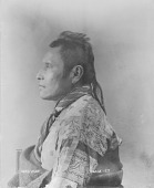 view Portrait of Osage man, Non'-dse-ca-gi or Hard Heart before 1894 digital asset number 1