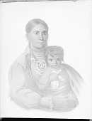 view [Lithograph of Mo-hon-ga or Sacred Sun, and child] digital asset number 1