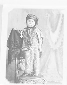 view Portrait (Front) of Boy? in Native Dress with Ornaments n.d digital asset number 1