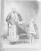 view Portrait of Woman and Boy, Both in Native Dress with Ornaments n.d digital asset number 1