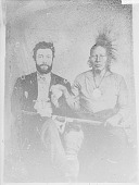 view [Wah-tian-kah and unidentified man] ca. September 18, 1865 digital asset number 1