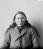 view Portrait of Ponca man, Mon'-shtin'-nu-ga or Male Rabbit Feb 1899 digital asset number 1