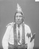 view [Portrait (Front) of Wa-shkon-mo-thin or Walks with effort, called Larmie Cerre] 1914 digital asset number 1