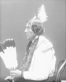 view [Portrait (Profile) of Wa-shkon-mo-thin or Walks with effort, called Larmie Cerre] 1914 digital asset number 1