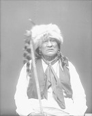 view [Portrait (Front) of Te-nu-ga-ci or Yellow Buffalo Bull] 1914 digital asset number 1