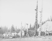 view [Totem poles at Old Kasaan village, southeastern Alaska] 1885 digital asset number 1