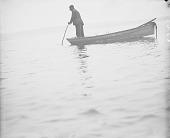 view [Joe Ward spearing eels at the mouth of Poosepatuck Creek] February 22, 1910 digital asset number 1
