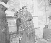view Woman in Native Dress with Ornaments Near Brick Building 1900 digital asset number 1