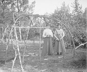 view [Wigwam frame with two white women inside] 1907 digital asset number 1