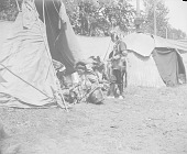 view [View of tipis and mat-covered wigwam] 1907 digital asset number 1