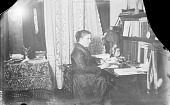 view [Alice Cunningham Fletcher at her writing desk] digital asset number 1