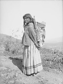 view Woman Carrying Baby in Cradleboard On Back 1907 digital asset number 1