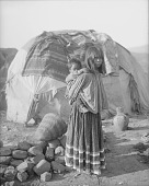 view Apache woman carrying child on her back ca 1900-1920 digital asset number 1