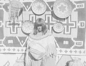 view Apache woman displaying basketry ca 1900-1920 digital asset number 1