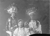 view Portrait of Flathead men, Pascal Antoine, Chief Charlot (seated), Antoine Moise Apr 5 1903 digital asset number 1